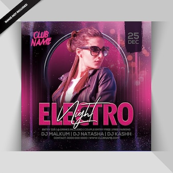 Folheto de festa electro night