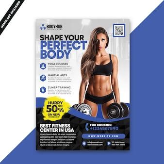Folheto de ginástica fitness