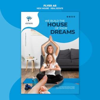 Folheto de imóveis para novas casas