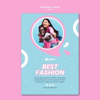Folheto de loja de moda com foto
