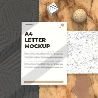 Folheto de maquete de carta realista para pôster cv e maquete de propaganda
