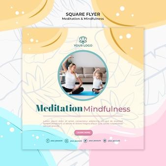 Folheto de meditação e atenção plena