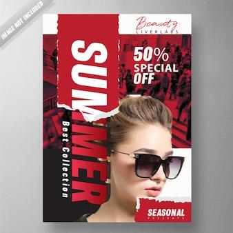 Folheto de moda verão
