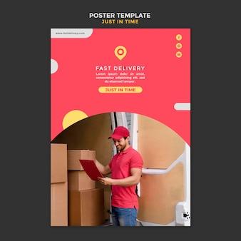 Folheto de modelo de empresa de entrega