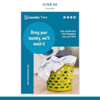 Folheto de modelo de serviço de lavanderia