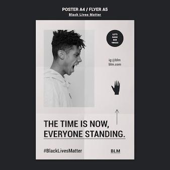 Folheto de movimento de matéria de vidas negras
