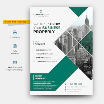 Folheto de negócios corporativos abstrato