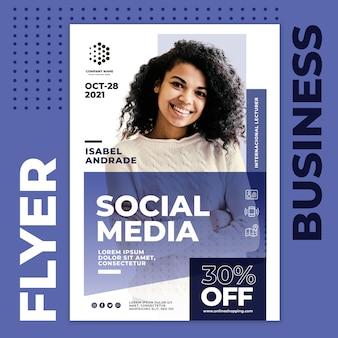 Folheto de negócios em mídia social