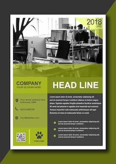 Folheto de negócios verde moderno
