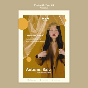 Folheto de nova coleção de venda de outono