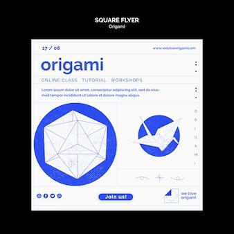 Folheto de origami