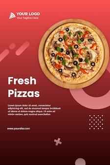 Folheto de pizza instagram modelo psd