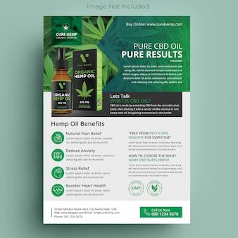 Folheto de produtos de cânhamo