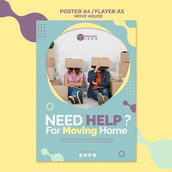Folheto de serviço de mudança de casa