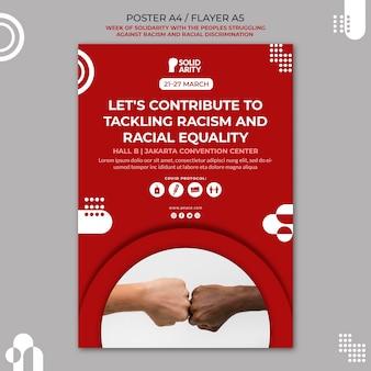Folheto de solidariedade para pessoas que lutam contra o racismo