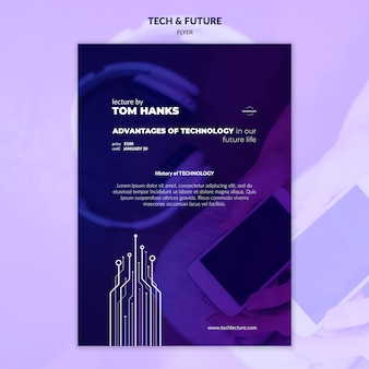 Folheto de tecnologia e conceito futuro