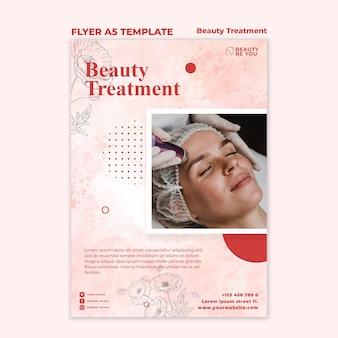 Folheto de tratamento de beleza