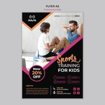 Folheto de treinamento para crianças