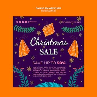 Folheto de venda de natal com ofertas especiais