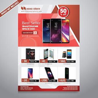 Folheto de vendas de smartphones