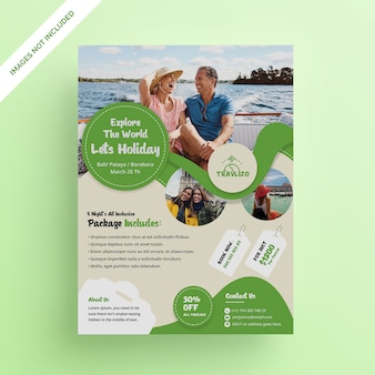 Folheto de viagem de fim de semana de verão