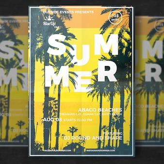Folheto de viagem de verão