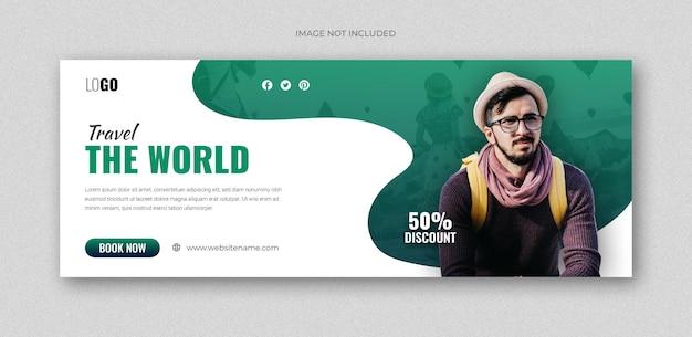Folheto de webinar médico de saúde postar modelo de banner de promoção na web em mídia social
