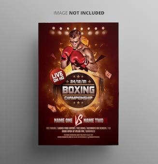Folheto do campeonato de boxe