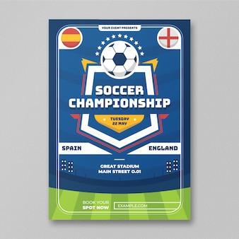 Folheto do campeonato de futebol