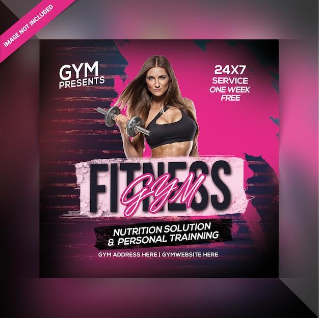 Folheto do clube de fitness