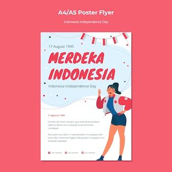 Folheto do dia da independência da indonésia