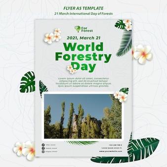 Folheto do dia internacional das florestas