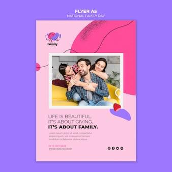 Folheto do dia nacional da família