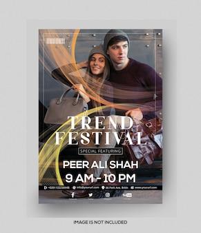 Folheto do festival de tendências