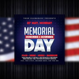 Folheto do memorial day
