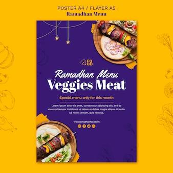 Folheto do menu ramadhan