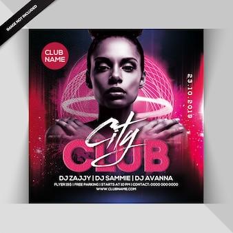 Folheto do partido do clube da cidade