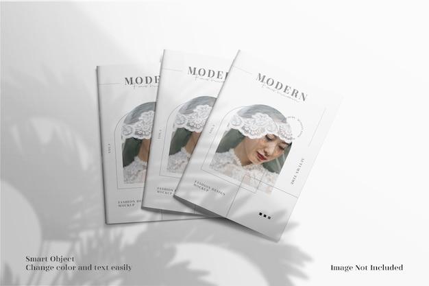 Folheto elegante e minimalista ou maquete de capa de folheto
