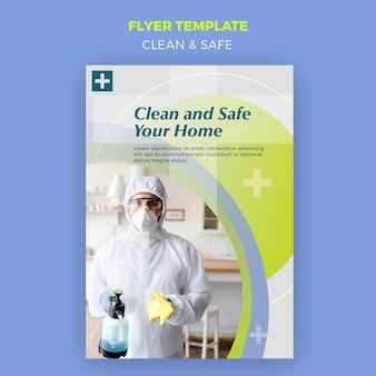 Folheto limpo e seguro Psd grátis