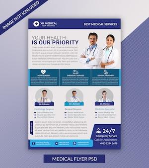 Folheto médico moderno