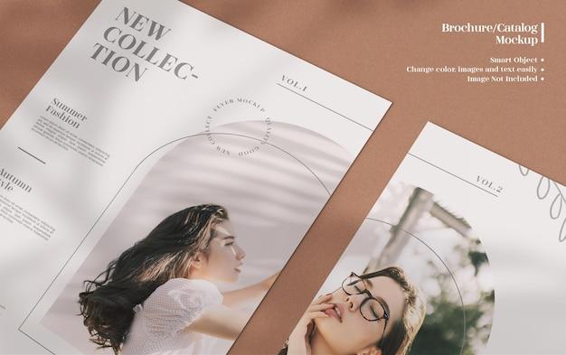 Folheto minimalista moderno e elegante, maquete de brochura ou folheto com design de layout de modelo gratuito