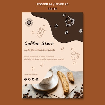 Folheto modelo de cafeteria