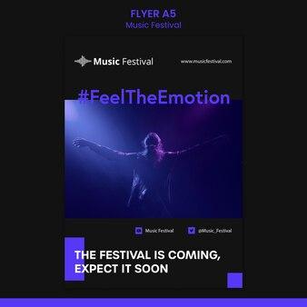 Folheto modelo de festival de música