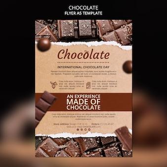 Folheto modelo de loja de chocolate