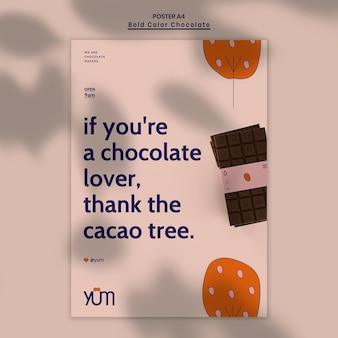 Folheto modelo de loja de chocolates