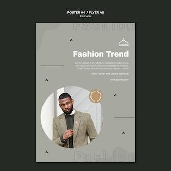 Folheto modelo de loja de moda