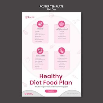 Folheto modelo de plano de dieta