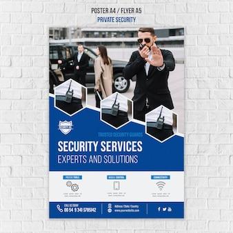 Folheto modelo de serviços de segurança