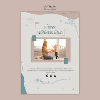 Folheto modelo para o dia das mães