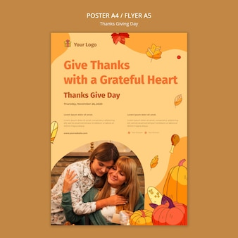 Folheto para a celebração do dia de graças